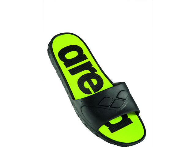 arena Watergrip Sandals Men black/lime